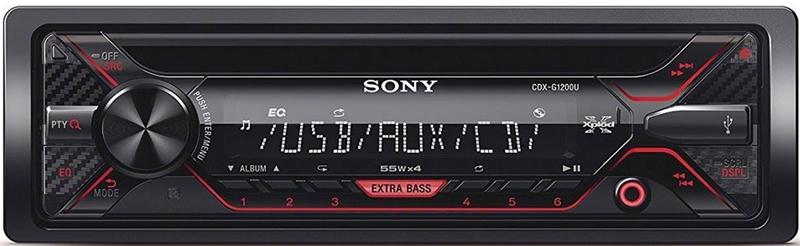 SONY autoradio CDXG1200 CD/radio med USB/aux på front Bilstereo