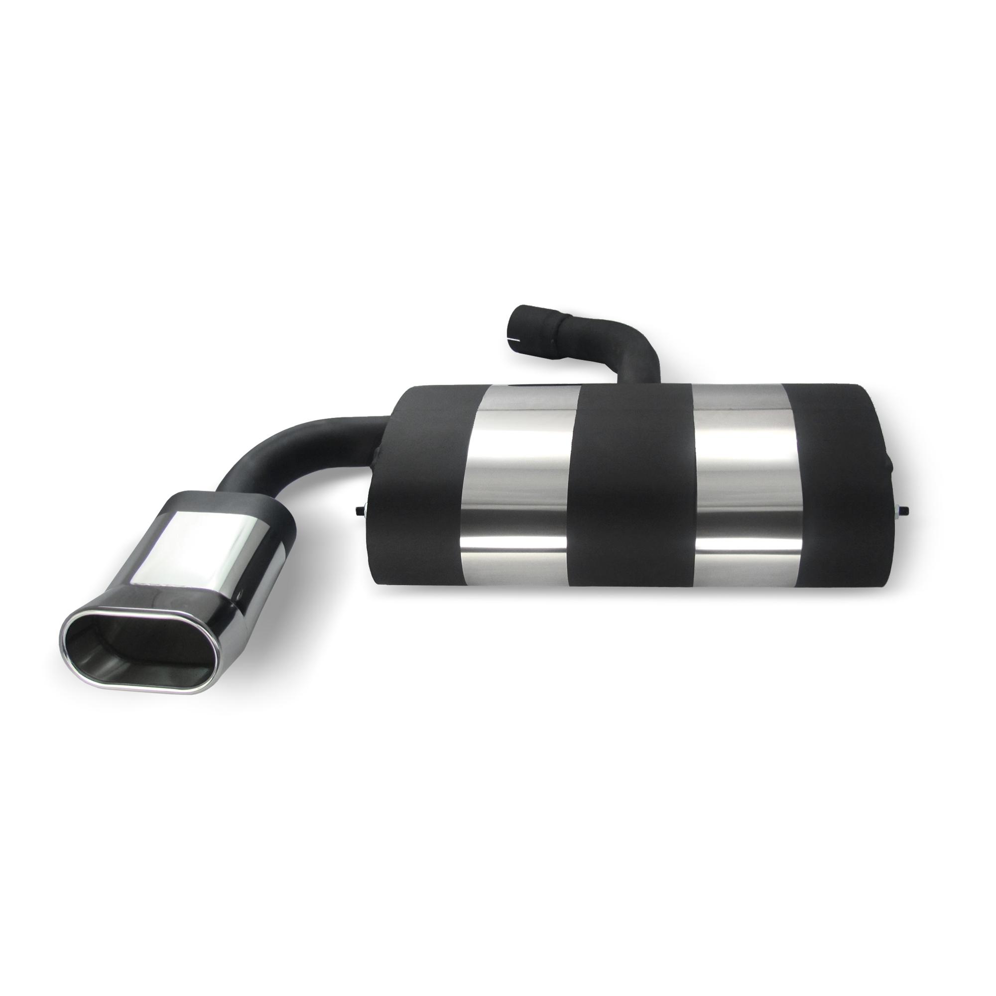 JOM Bagpotte rustfri stål med oval afgang - DTM look. Til VW Golf 5 and Golf 5 Plus Udvendig tilbehør > Udstødning