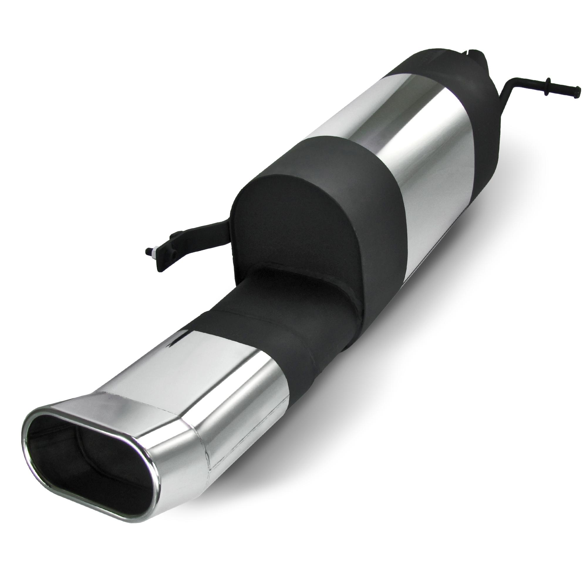 JOM Bagpotte rustfri stål med oval afgang - DTM look. Til VW Polo 9N and 9N3 Udvendig tilbehør > Udstødning