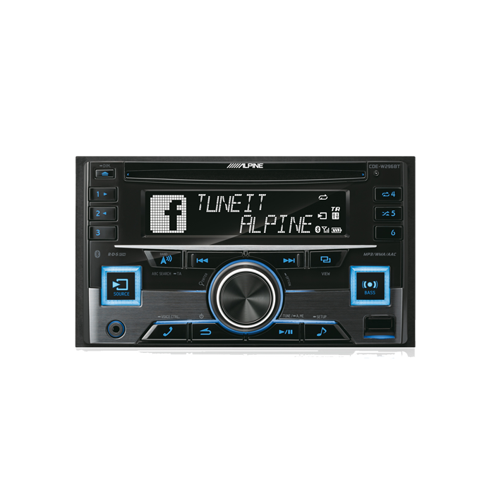 Alpine CDE-W296BT 2-DIN CD/Turner Bluetooth Bilstereo > CD / Radio > Alpine