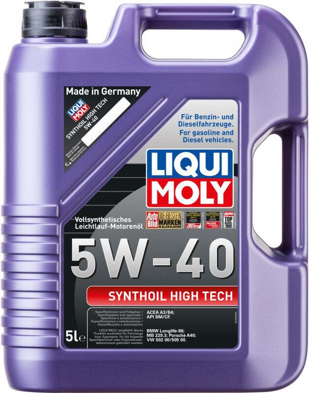 5W40 Motorolie Synthoil High Tech fra Liqui Moly
