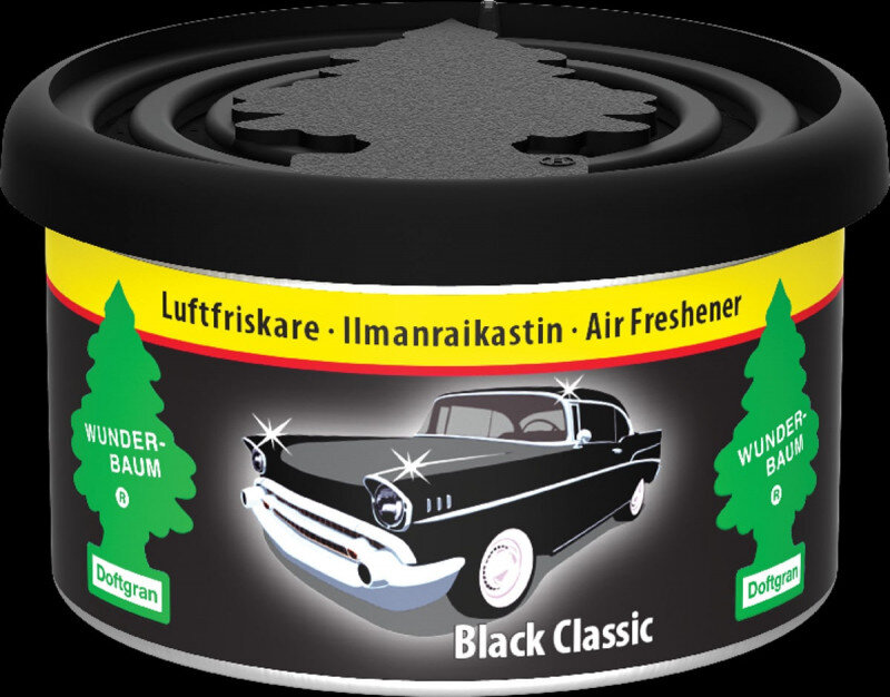 Black Classic duftdåse / Fiber Can fra Wunderbaum Wunder-Baum dufte