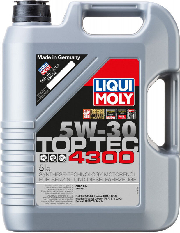 Top tec 4300 Liqui moly 5W30 Motorolie i 5l Top tec motorolie fra Liqui Moly