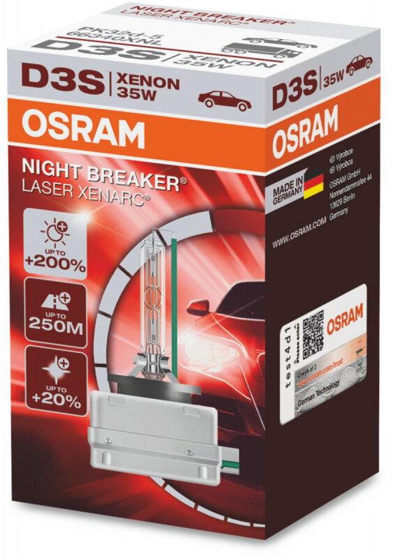 Osram D3S Night Breaker Laser Xenon pære med +200% mere lys (1 stk) Xenon Pærer