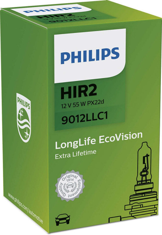 Philips HIR2 LongLife EcoVision pære med op til 4x længere levetid Philips LongLife EcoVision x4