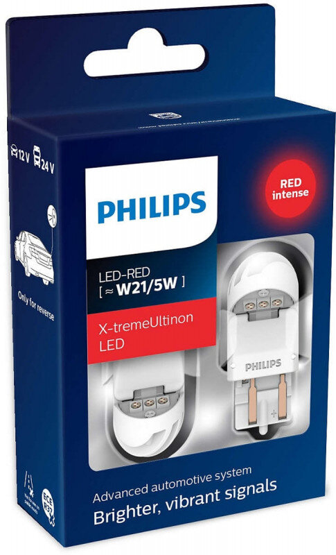Philips X-tremeUltinon W21/5W LED-RED