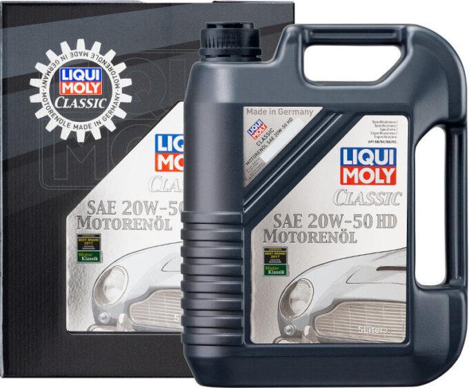 20W50 Classic Motorolie fra Liqui Moly i 5l dunk Motorolie fra Liqui Moly