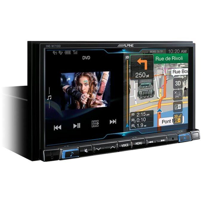 Alpine INEW710DC 2DIN Multimedie Station med navigation - Truckkort Bilstereo > Multimedie
