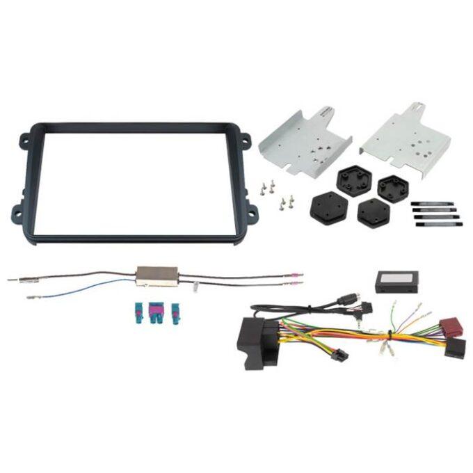 """Alpine KIT8VWD2 2-DIN 8"""" kit f. VW diverse modeller med hvidt display Bilstereo > Monteringssæt"""