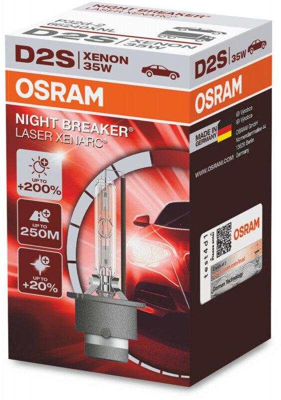 Osram D2S Night Breaker Laser Xenon pære med +200% mere lys (1 stk) Xenon Pærer